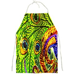 Glass Tile Peacock Feathers Full Print Aprons