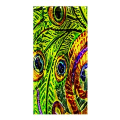 Glass Tile Peacock Feathers Shower Curtain 36  x 72  (Stall)