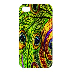 Glass Tile Peacock Feathers Apple iPhone 4/4S Premium Hardshell Case