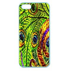 Glass Tile Peacock Feathers Apple Seamless iPhone 5 Case (Color)