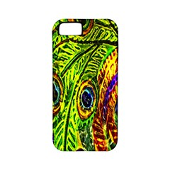 Glass Tile Peacock Feathers Apple iPhone 5 Classic Hardshell Case (PC+Silicone)