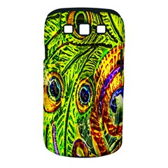 Glass Tile Peacock Feathers Samsung Galaxy S III Classic Hardshell Case (PC+Silicone)