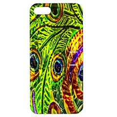 Glass Tile Peacock Feathers Apple iPhone 5 Hardshell Case with Stand