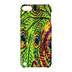 Glass Tile Peacock Feathers Apple iPod Touch 5 Hardshell Case with Stand