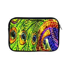 Glass Tile Peacock Feathers Apple iPad Mini Zipper Cases