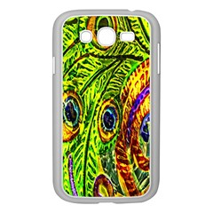 Glass Tile Peacock Feathers Samsung Galaxy Grand DUOS I9082 Case (White)