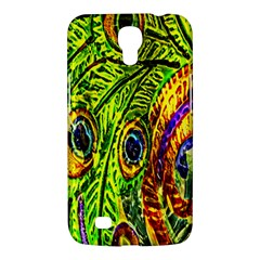 Glass Tile Peacock Feathers Samsung Galaxy Mega 6.3  I9200 Hardshell Case