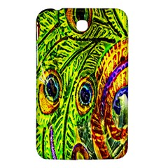 Glass Tile Peacock Feathers Samsung Galaxy Tab 3 (7 ) P3200 Hardshell Case