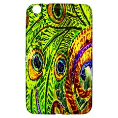 Glass Tile Peacock Feathers Samsung Galaxy Tab 3 (8 ) T3100 Hardshell Case