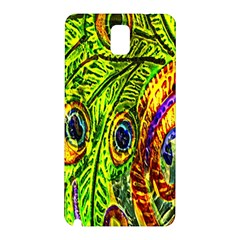 Glass Tile Peacock Feathers Samsung Galaxy Note 3 N9005 Hardshell Back Case