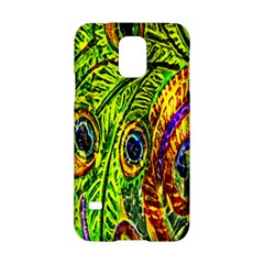 Glass Tile Peacock Feathers Samsung Galaxy S5 Hardshell Case