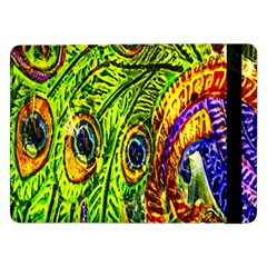 Glass Tile Peacock Feathers Samsung Galaxy Tab Pro 12 2  Flip Case