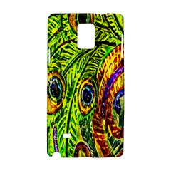 Glass Tile Peacock Feathers Samsung Galaxy Note 4 Hardshell Case