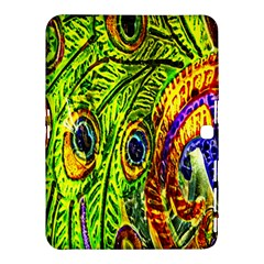 Glass Tile Peacock Feathers Samsung Galaxy Tab 4 (10 1 ) Hardshell Case