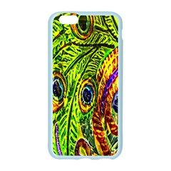 Glass Tile Peacock Feathers Apple Seamless iPhone 6/6S Case (Color)