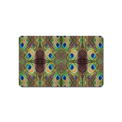 Beautiful Peacock Feathers Seamless Abstract Wallpaper Background Magnet (name Card)