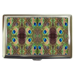 Beautiful Peacock Feathers Seamless Abstract Wallpaper Background Cigarette Money Cases