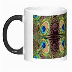 Beautiful Peacock Feathers Seamless Abstract Wallpaper Background Morph Mugs