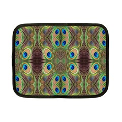 Beautiful Peacock Feathers Seamless Abstract Wallpaper Background Netbook Case (Small)