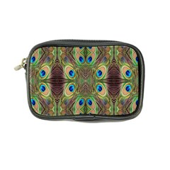 Beautiful Peacock Feathers Seamless Abstract Wallpaper Background Coin Purse