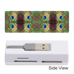 Beautiful Peacock Feathers Seamless Abstract Wallpaper Background Memory Card Reader (stick)