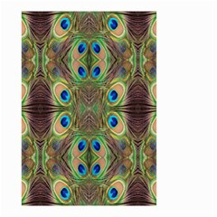 Beautiful Peacock Feathers Seamless Abstract Wallpaper Background Small Garden Flag (Two Sides)
