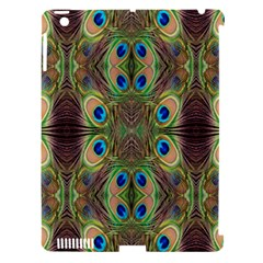 Beautiful Peacock Feathers Seamless Abstract Wallpaper Background Apple Ipad 3/4 Hardshell Case (compatible With Smart Cover)