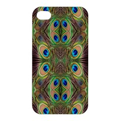 Beautiful Peacock Feathers Seamless Abstract Wallpaper Background Apple iPhone 4/4S Premium Hardshell Case