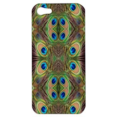 Beautiful Peacock Feathers Seamless Abstract Wallpaper Background Apple iPhone 5 Hardshell Case