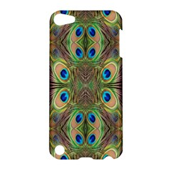 Beautiful Peacock Feathers Seamless Abstract Wallpaper Background Apple Ipod Touch 5 Hardshell Case