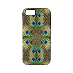 Beautiful Peacock Feathers Seamless Abstract Wallpaper Background Apple Iphone 5 Classic Hardshell Case (pc+silicone)