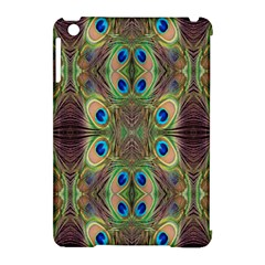 Beautiful Peacock Feathers Seamless Abstract Wallpaper Background Apple iPad Mini Hardshell Case (Compatible with Smart Cover)