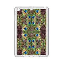 Beautiful Peacock Feathers Seamless Abstract Wallpaper Background iPad Mini 2 Enamel Coated Cases