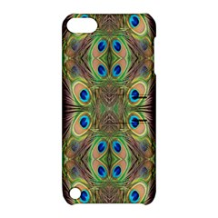 Beautiful Peacock Feathers Seamless Abstract Wallpaper Background Apple iPod Touch 5 Hardshell Case with Stand