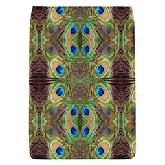 Beautiful Peacock Feathers Seamless Abstract Wallpaper Background Flap Covers (S)