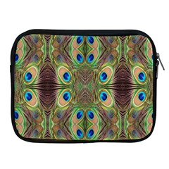 Beautiful Peacock Feathers Seamless Abstract Wallpaper Background Apple Ipad 2/3/4 Zipper Cases
