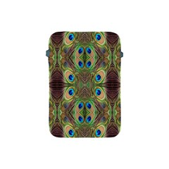 Beautiful Peacock Feathers Seamless Abstract Wallpaper Background Apple iPad Mini Protective Soft Cases