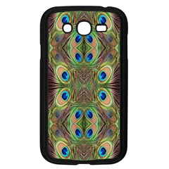 Beautiful Peacock Feathers Seamless Abstract Wallpaper Background Samsung Galaxy Grand Duos I9082 Case (black)