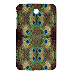 Beautiful Peacock Feathers Seamless Abstract Wallpaper Background Samsung Galaxy Tab 3 (7 ) P3200 Hardshell Case