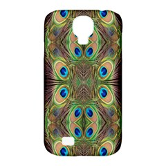 Beautiful Peacock Feathers Seamless Abstract Wallpaper Background Samsung Galaxy S4 Classic Hardshell Case (PC+Silicone)