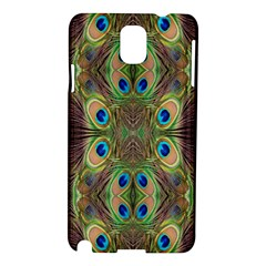 Beautiful Peacock Feathers Seamless Abstract Wallpaper Background Samsung Galaxy Note 3 N9005 Hardshell Case