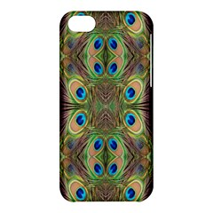 Beautiful Peacock Feathers Seamless Abstract Wallpaper Background Apple iPhone 5C Hardshell Case