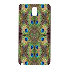 Beautiful Peacock Feathers Seamless Abstract Wallpaper Background Samsung Galaxy Note 3 N9005 Hardshell Back Case