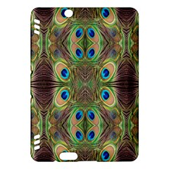 Beautiful Peacock Feathers Seamless Abstract Wallpaper Background Kindle Fire HDX Hardshell Case