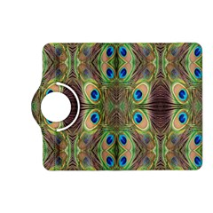 Beautiful Peacock Feathers Seamless Abstract Wallpaper Background Kindle Fire HD (2013) Flip 360 Case
