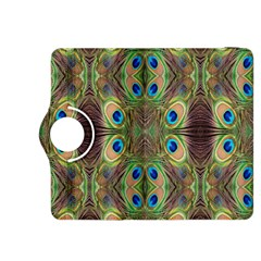 Beautiful Peacock Feathers Seamless Abstract Wallpaper Background Kindle Fire HDX 8.9  Flip 360 Case