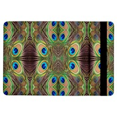 Beautiful Peacock Feathers Seamless Abstract Wallpaper Background Ipad Air Flip