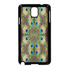 Beautiful Peacock Feathers Seamless Abstract Wallpaper Background Samsung Galaxy Note 3 Neo Hardshell Case (black)