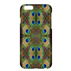 Beautiful Peacock Feathers Seamless Abstract Wallpaper Background Apple Iphone 6 Plus/6s Plus Hardshell Case