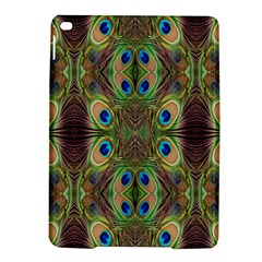 Beautiful Peacock Feathers Seamless Abstract Wallpaper Background iPad Air 2 Hardshell Cases
